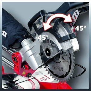 capacité de coupe scie radiale Einhell
